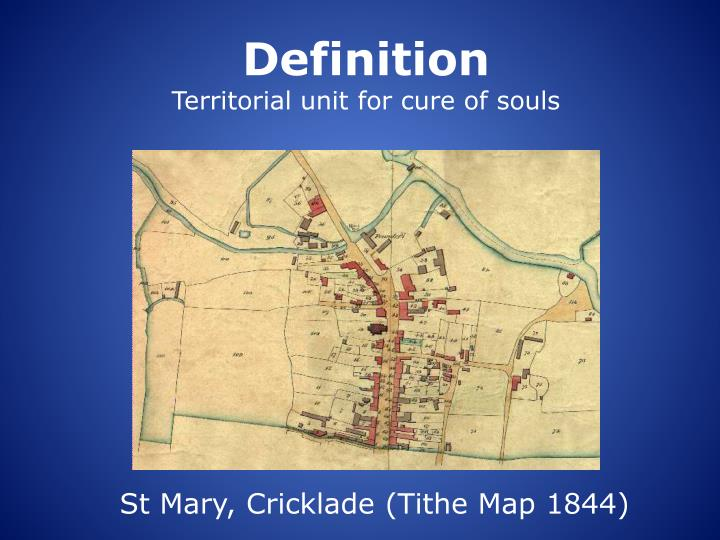 Definition territorial unit for cure of souls