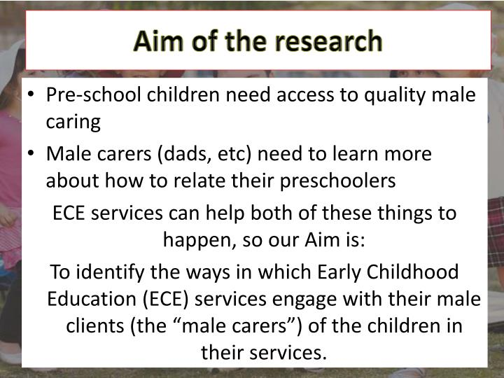 Aim of the research