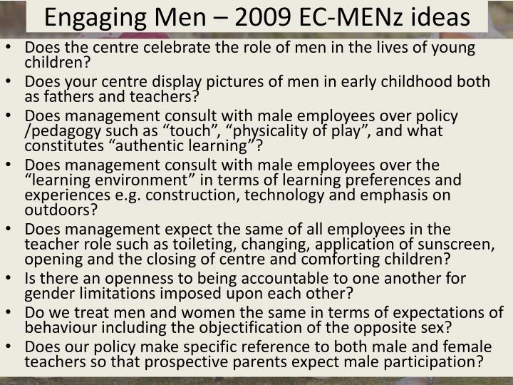 Engaging Men – 2009 EC-