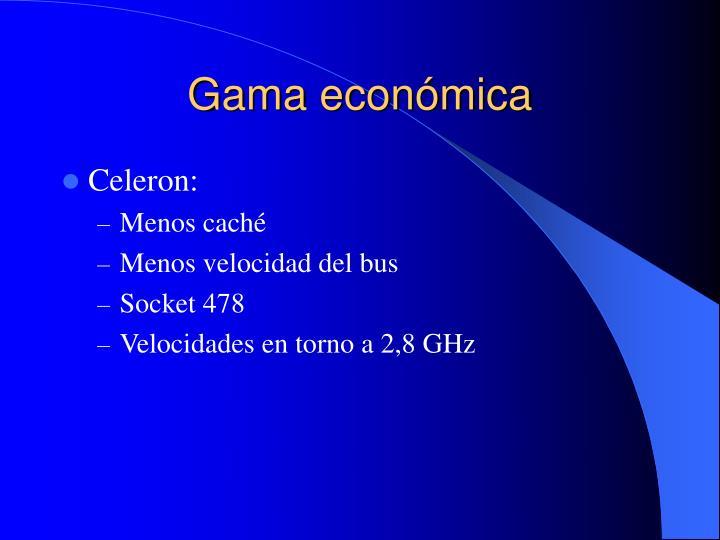 Gama económica