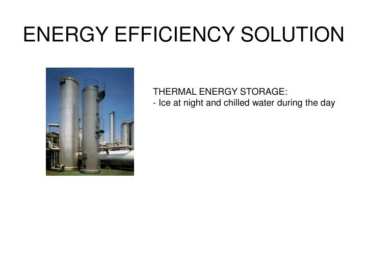 ENERGY EFFICIENCY SOLUTION
