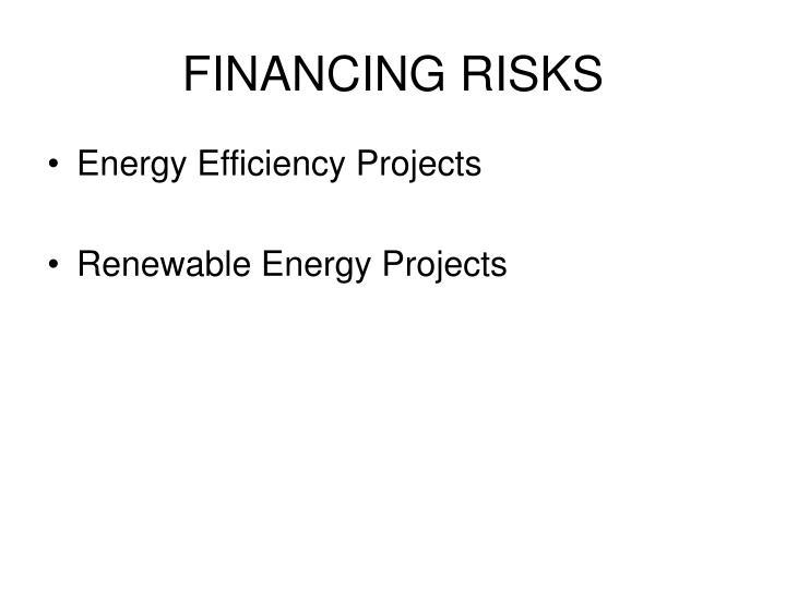 Financing risks