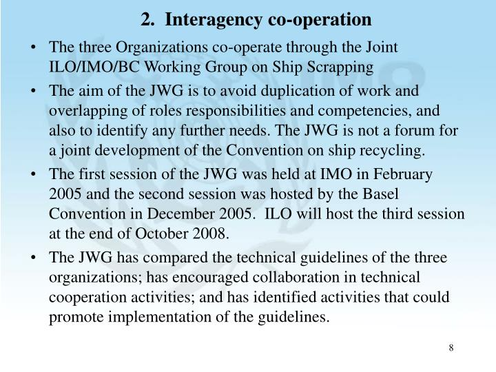 2.  Interagency co-operation