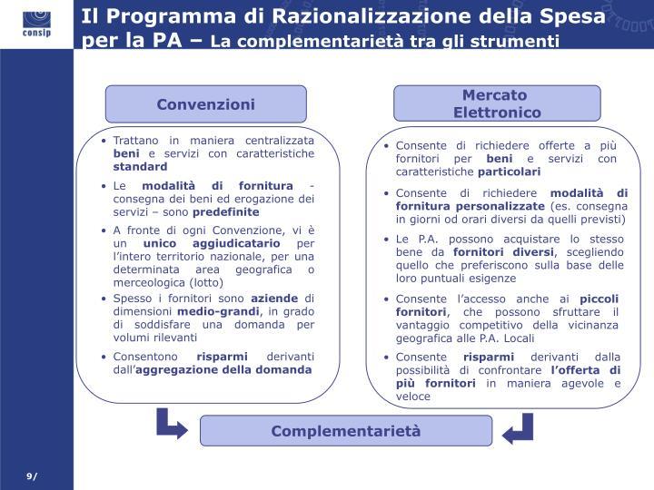 Il Programma di Razionalizzazione della Spesa per la PA –