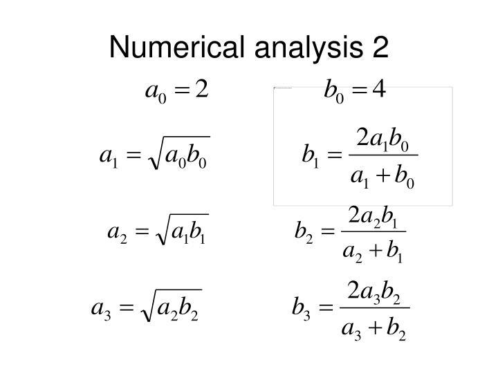 Numerical analysis 2