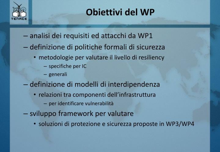 Obiettivi del wp