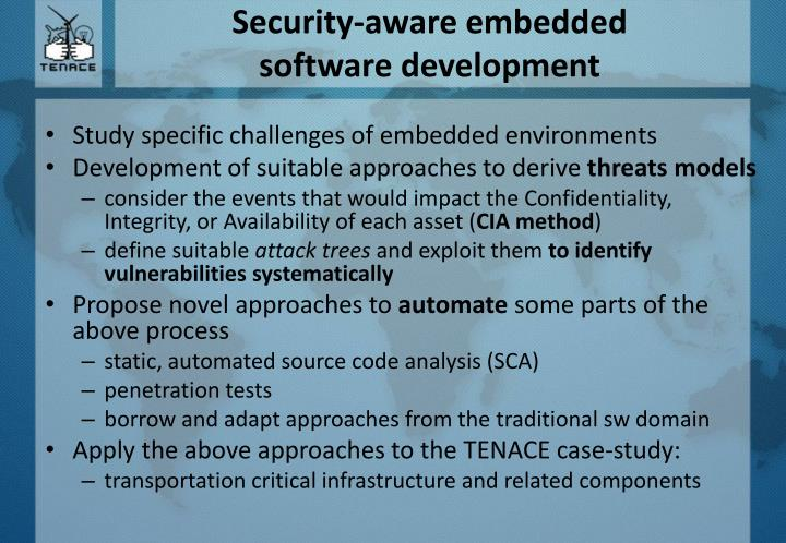 Security-aware embedded