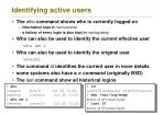 identifying active users