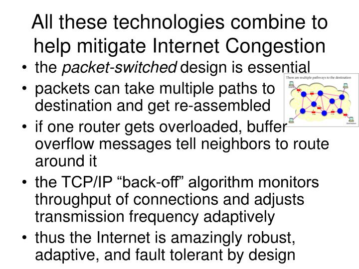 All these technologies combine to help mitigate Internet Congestion