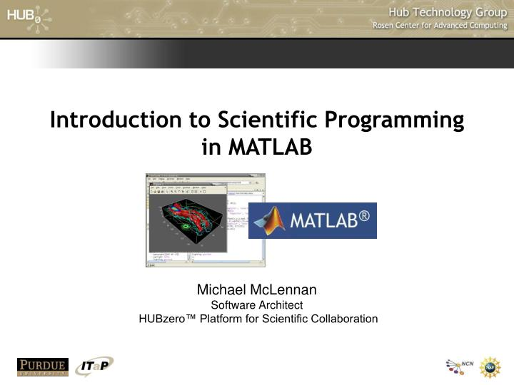 introduction to scientific programming in matlab n.