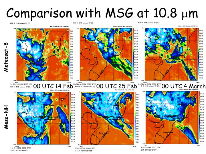 Comparison with MSG at 10.8