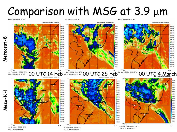 Comparison with MSG at 3.9