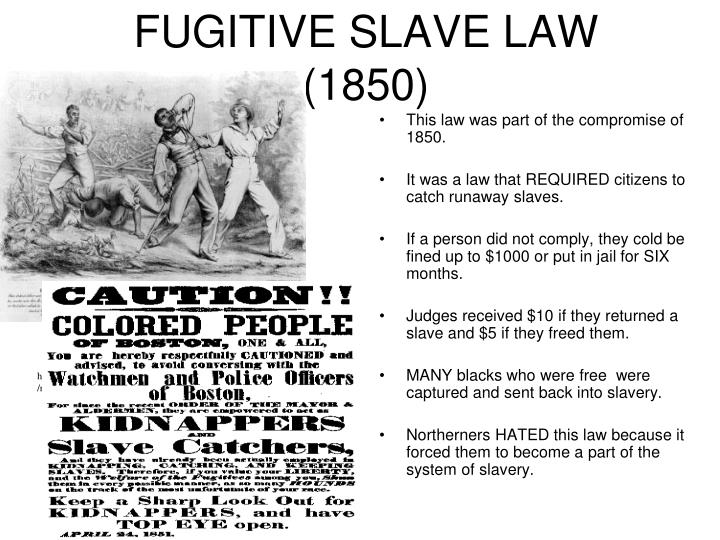 essays fugitive slave law Immediately download the fugitive slave law of 1850 summary, chapter-by-chapter analysis, book notes, essays, quotes, character descriptions, lesson plans, and more - everything you need for studying or teaching everything you need to understand or teach fugitive slave law of 1850.
