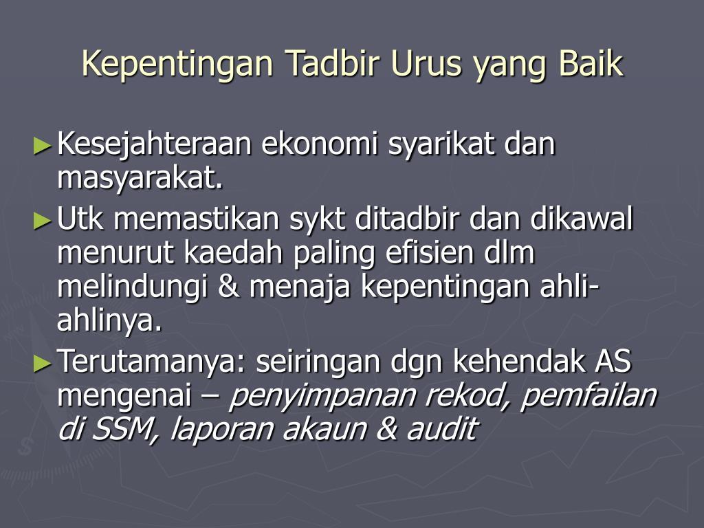 Ppt Konsep Tadbir Urus Korporat Corporate Governance Powerpoint Presentation Id 4265577