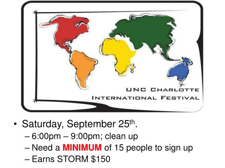 Saturday, September 25