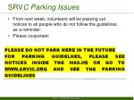 srv c parking issues