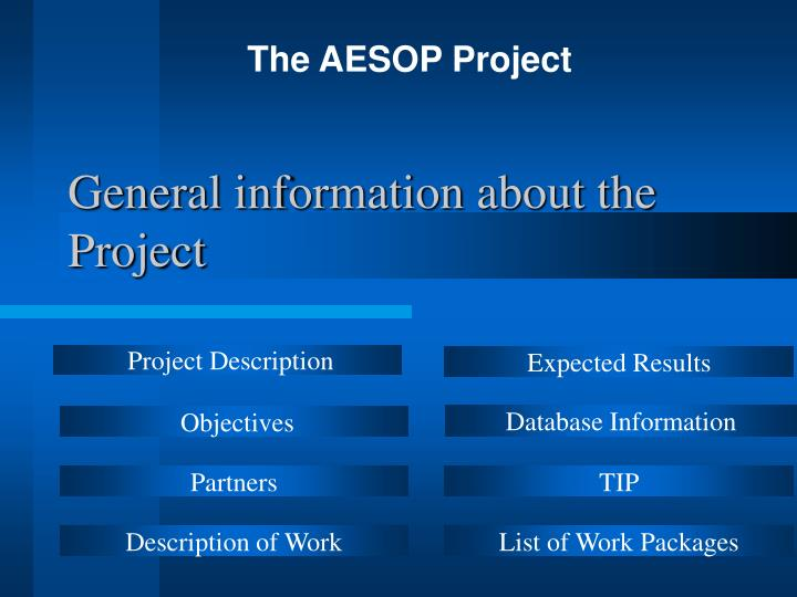 general information about the project n.