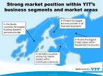 strong market position within yit s business segments and market areas