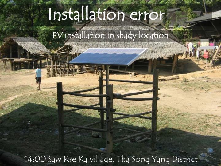 Installation error