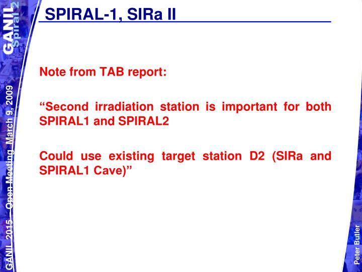 SPIRAL-1, SIRa II