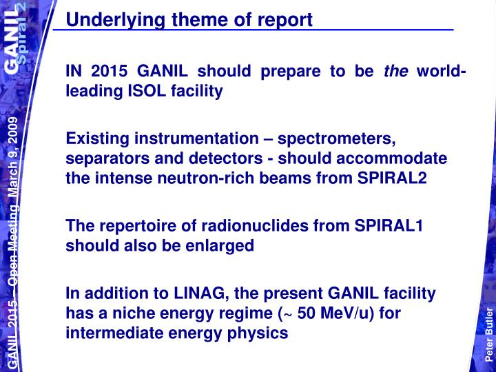 Underlying theme of report
