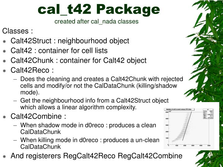 Cal t42 package created after cal nada classes