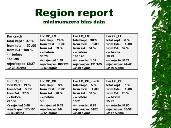 Region report
