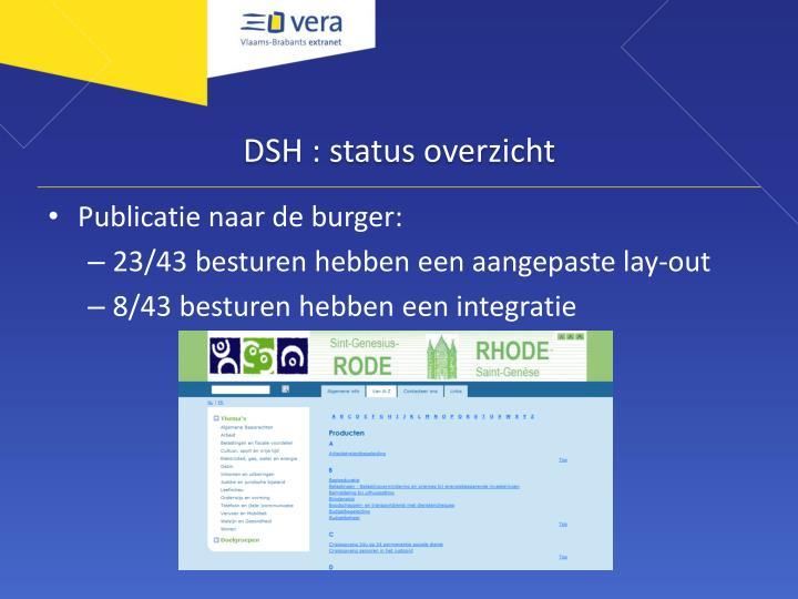 DSH : status overzicht