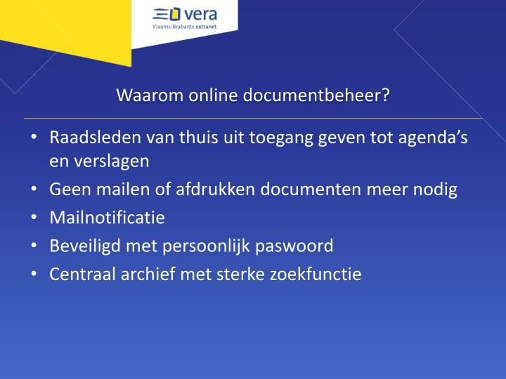 Waarom online documentbeheer?