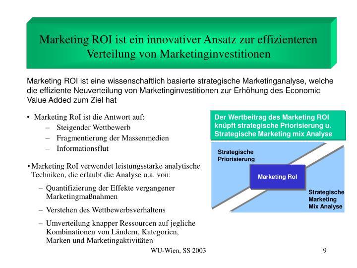 Marketing ROI ist ein innovativer Ansatz zur effizienteren Verteilung von Marketinginvestitionen