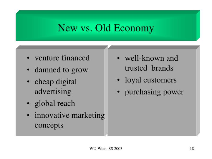 New vs. Old Economy