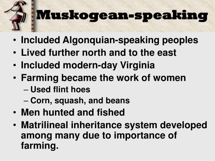 Muskogean-speaking