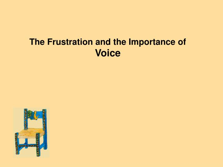 the importance of voice in a dose The hearing the voice project is conducting a survey in collaboration with the edinburgh international book festival to explore the ways readers imagine,.