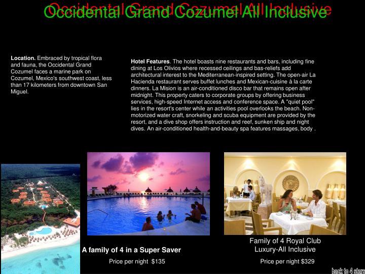 Occidental Grand Cozumel All Inclusive