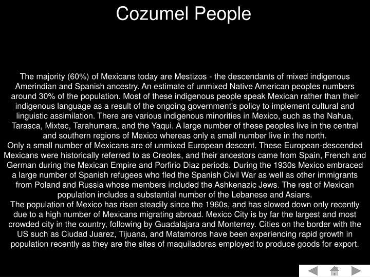 Cozumel People