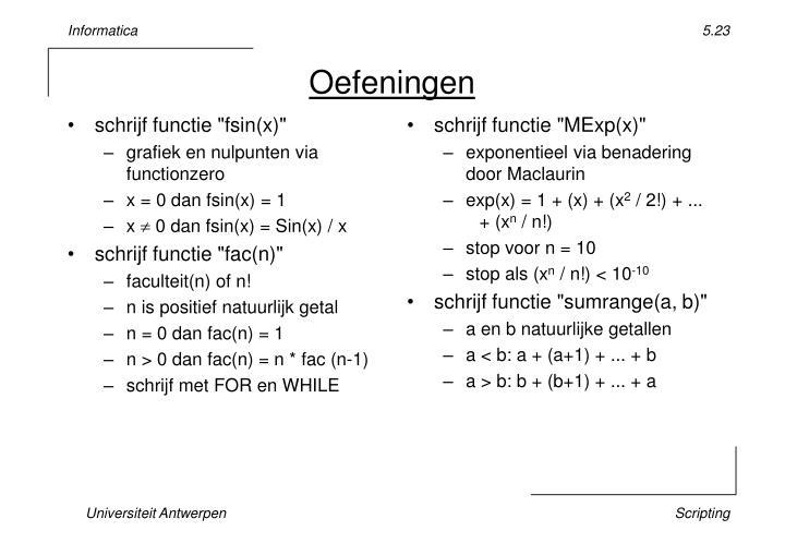 """schrijf functie """"fsin(x)"""""""