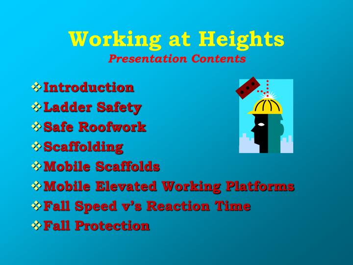 ppt - working at heights powerpoint presentation