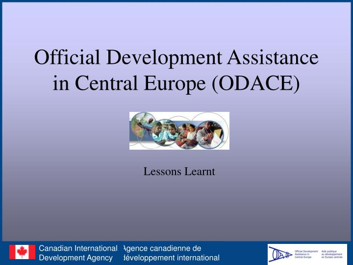 Official development assistance in central europe odace