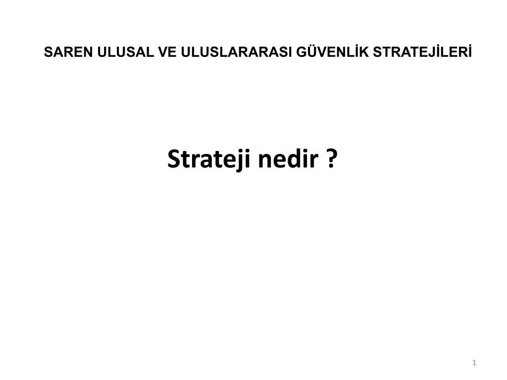 Strateji nedir