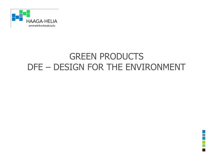 green products dfe design for the environment n.