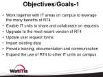 objectives goals 1