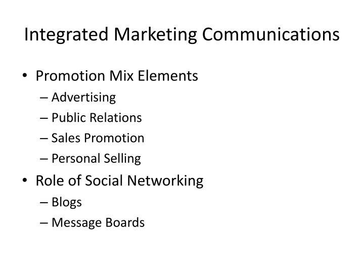 Integrated marketing communications