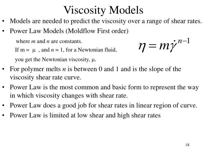 Viscosity Models