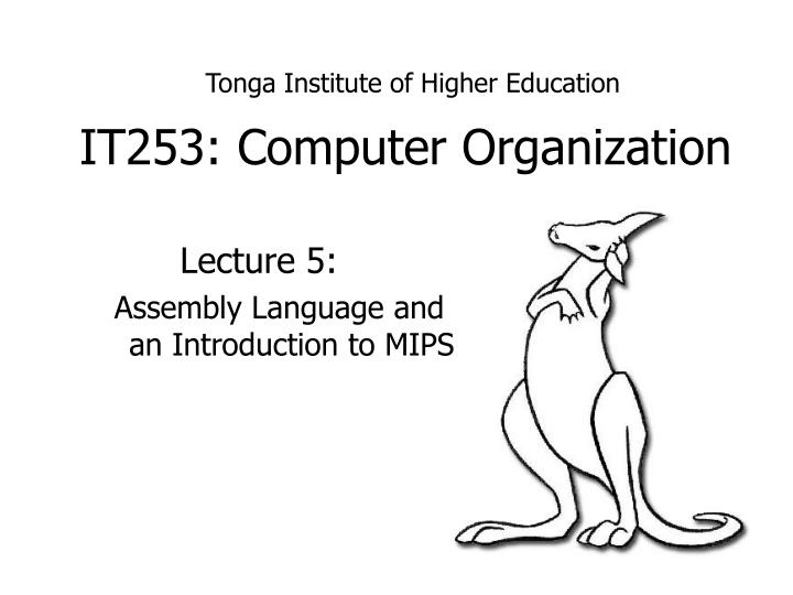 Ppt It253 Computer Organization Powerpoint Presentation Free Download Id 4267413