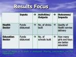 results focus