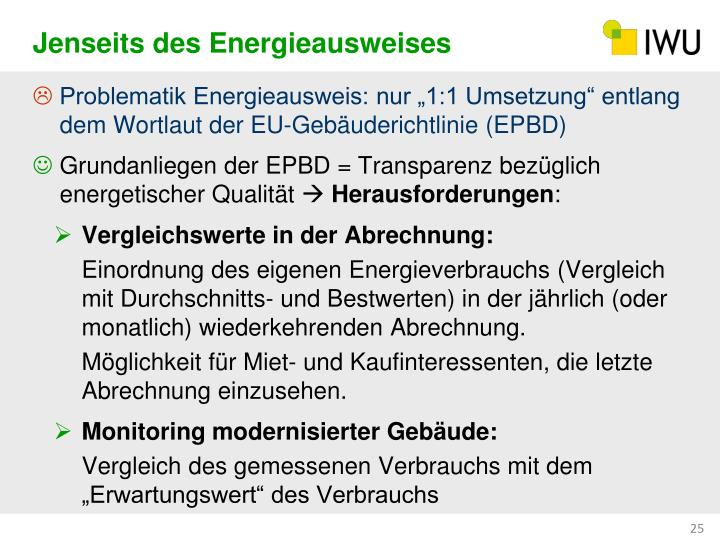 Jenseits des Energieausweises