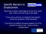 specific barriers to employment
