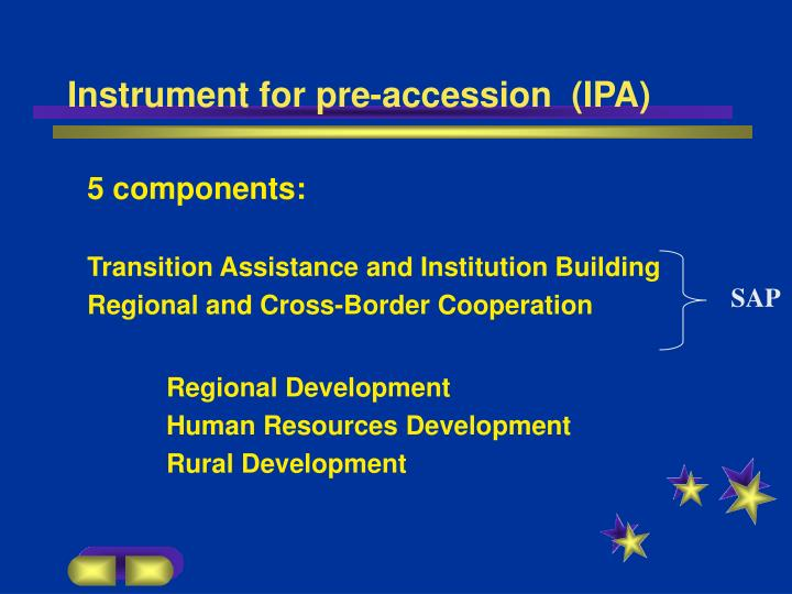 Instrument for pre-accession  (IPA)