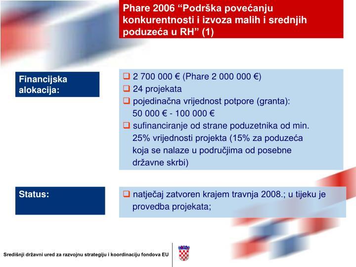 Phare 2006