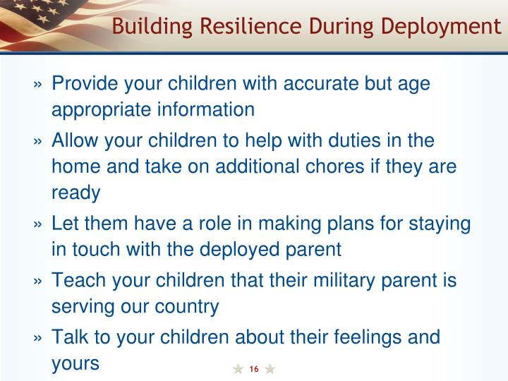 Building Resilience During Deployment